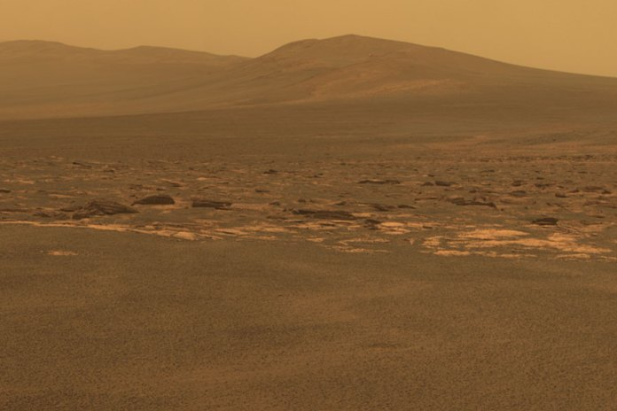 Rover Arrives at Endeavour Crater on Mars. Image Credit: MERM, NASA, JPL, Cornell